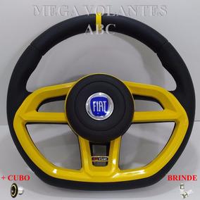 Volante Amarelo Golf P/ Fiat Uno 2006 2007 2008 2009 2010!