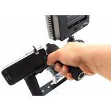 Suporte Para Celular Tripe Iluminador Led Microfone Shotgun
