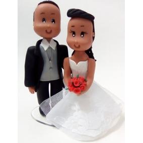 Noivinhos Biscuit Topo De Bolo De Casamento Pronta Entrega