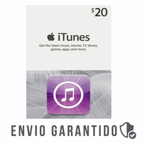 Itunes Gift Card 20$ Dolares Usa Cartao Iphone Appstore