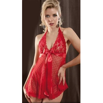Camisolin Baby Doll Sexy Sensual + Tanga Less Talles Grandes