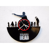 Reloj De Pared Disco Vinil Vinilo Acetato The Walking Dead 2