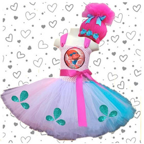 Vestido Tul Tutu Dress Puppy Trolls