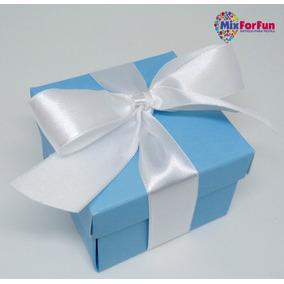 400 Caixas Pink / Branca / Azul Lembrancinha Em Papel