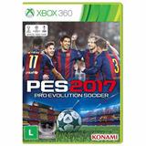 Pes 2017 Para Xbox 360 Midia Original Dvd Português Futebol