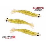 Camarão Artificial X-move Premium 9cm Monster 3x Gold Shine