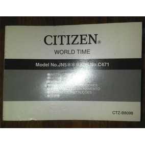 Manual Relogio Masculino Citizen Jn5xxx Cal. C471
