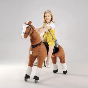 Caballo Pony De Ruedas Unicornio Montable Grande Hermoso