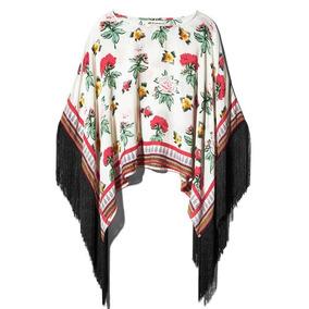 Blusa H&m Coachella Floral Flecos Talla L