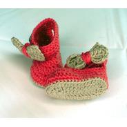 Zapato Crochet Bebé Recién Nacido