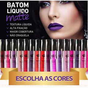 Kit 24 Batom Líquido Matte Fashion Cosméticos + Brinde