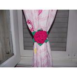 Sujeta Cortinas Crochet Diseño Decoracion Oferta Por Unidad