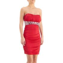 Sexy Vestido Rojo Straple Talla Chica Fiesta Noche Antro