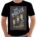 Camiseta Poster Original American Tour 1980 The Police Sting