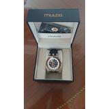 Reloj Mulco Original Unixe Negro Con Blanca En Buenas