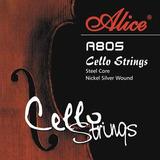 Encordado Para Cello Alice A805 Cuerdas Acero Violinchelo *