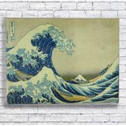 Quadro Grande Onda De Kanagawa Impresso Em Tela De Pintura