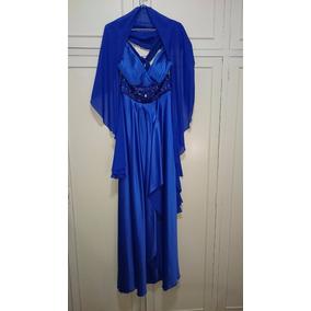 Vestido De Fiesta Azul Francia, Bellísimo!!