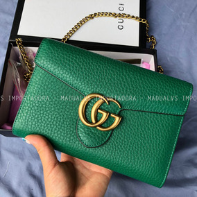 Bolsa Gucci Marmont Verde - G15 - Importado - Madualvs 20b612551c0