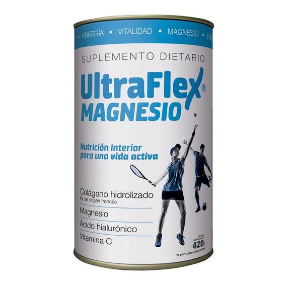 Ultraflex Magnesio Colágeno Hidrolizado En Polvo 420g