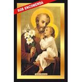 Quadro Imagens Sacras Católicas - São José E O Menino Jesus