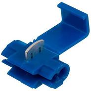 50pçs Conector Derivação Emenda Cabos Fios Azul 1,5 A 2,5mm