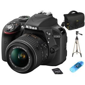 Nikon D3300 Kit 18-55 Vr 24mp Full Hd Sd 16gb + Bolso