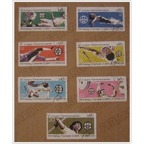 Colección 7 Timbre Postal - Juegos Panamericanos - Cuba 1967