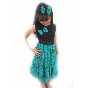 Vestido Rodado Criança Infantil Tam 8 Ao 14