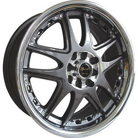 Kit 4 Llantas 17 Deportivas Speed Racing Dr14 5x100/112 Gol