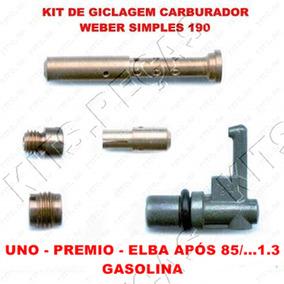 Kit Giclagem Carburador Weber 190 Uno - Premio 89/...1.3 Gas