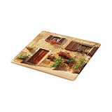 Lunarable Tuscan Cutting Board, Picturesque Lane With Medite