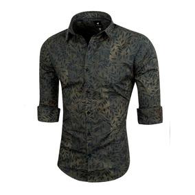 Camisa Fall, Estampada, Slim Fit, Valkymia