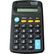 5 Calculadora Pequena De Bolso Portátil Preto 8 Dígitos.