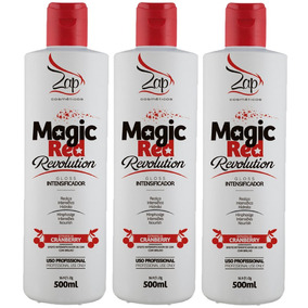 3 Zap Magic Red Revolution Gloss Intensificador 500ml+ Frete
