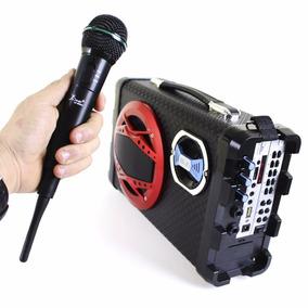 Caixa De Som Bluetooth Portátil Bh2012 + Microfone Sem Fio