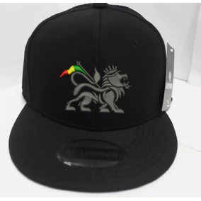 Boné Bordado Aba Reta Leao Jamaica Rasta Bob Marley