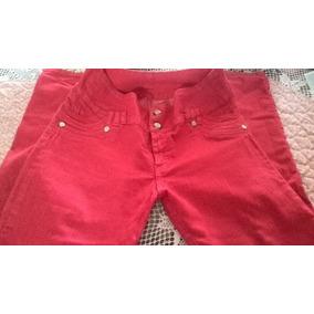 Jeans Rojo Talla 14 Levanta Cola