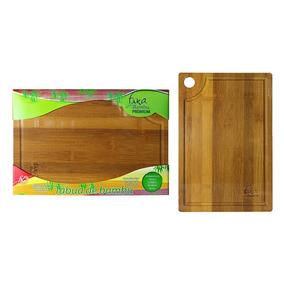 Tábua De Corte Em Bambu P Carne Churrasco Vegetais 25x35