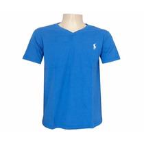 Kit C/3 Un Blusas Basicas Camisas Gola V Roupas Masculinas