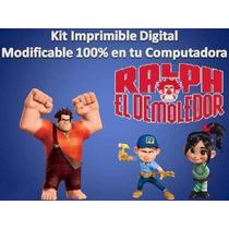 Kit Imprimible Candy Bar Ralf El Demoledor Fiesta Cumpleaños