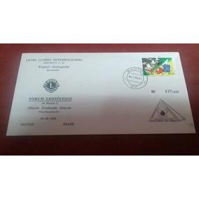 Envelope Comemorativo Fórum Leonistico L 16 Santos 25 Ago 84