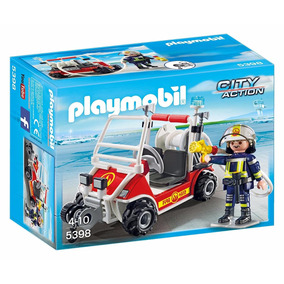 Playmobil Coche Bomberos Aeropuerto 5398 City Action Edu