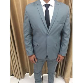 Terno Slim Masculino Oxford Cor Cinza