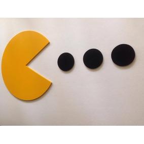 Pac Man Con 2 Fantasmas, Cuadros En Madera Mdf
