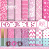 Kit Digital Fondos Rosa Dorado Glitter Animal Print Chevron
