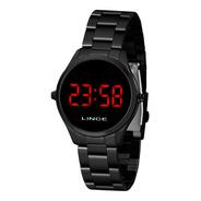 Relógio Lince Mdn4618l Vxpx Digital Preto Acende Vermelho