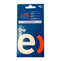 Chip Entel A $400, $1.000 Carga Inicial+100mb, 100 Unidades