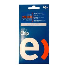 Chip Entel A $350, $1.000 Carga Inicial+100mb, 100 Unidades