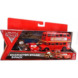 Cars Double Decker Bus Mate Y Rayo Mcqueen 3 Pack